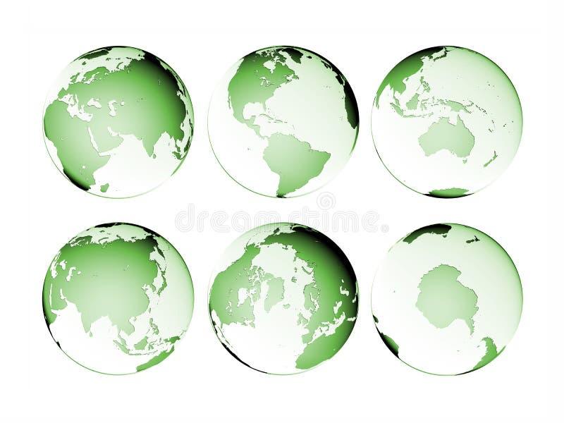 Geïsoleerded de Aarde van de Bol van de planeet royalty-vrije illustratie