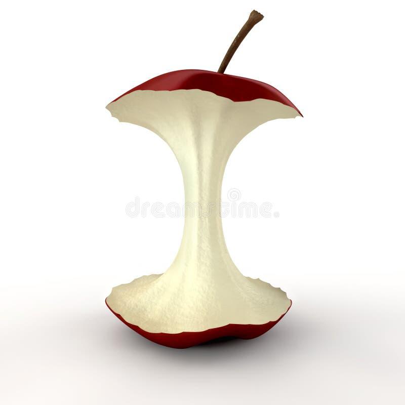 Geïsoleerded de Kern van Apple vector illustratie