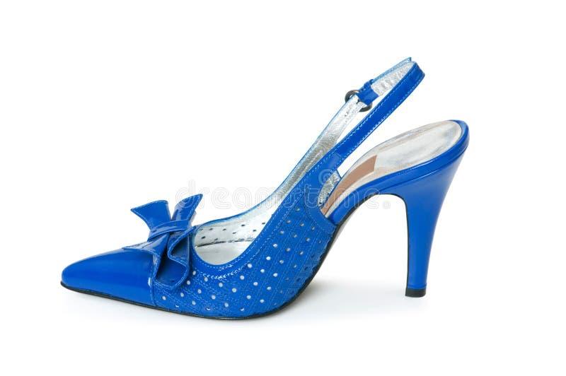 Geïsoleerded de schoenen van de vrouw stock afbeeldingen
