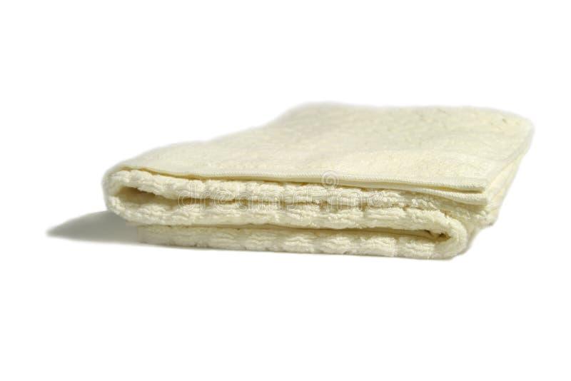 Geïsoleerded Handdoek royalty-vrije stock afbeelding