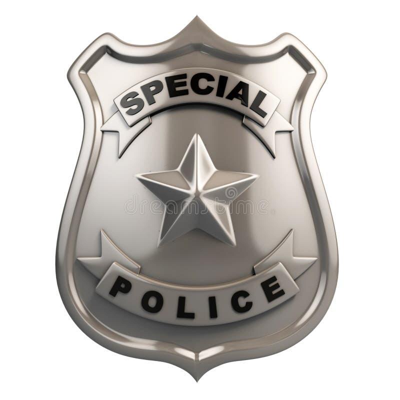 Geïsoleerded het kenteken van de politie royalty-vrije illustratie