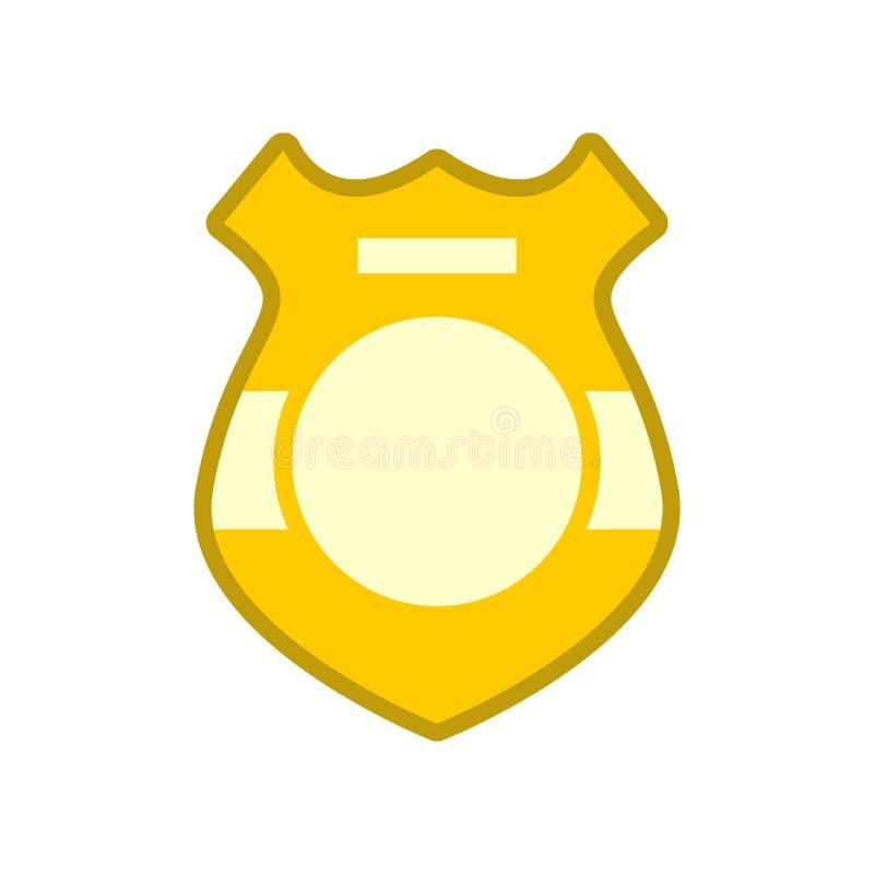 Geïsoleerded het kenteken van de politie vector illustratie