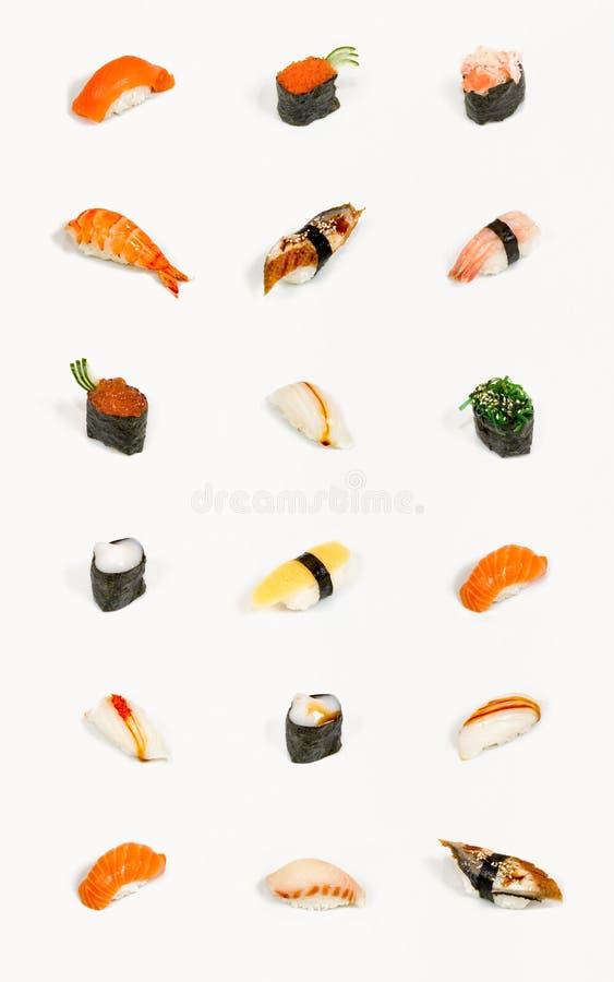 Geïsoleerded sushi stock foto