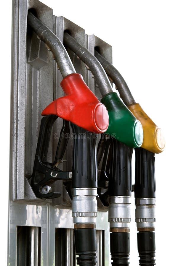 Geïsoleerdee benzinepompen royalty-vrije stock afbeelding