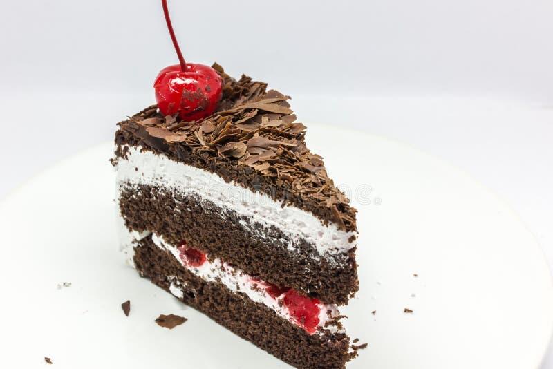 Geïsoleerdee chocoladecake royalty-vrije stock fotografie