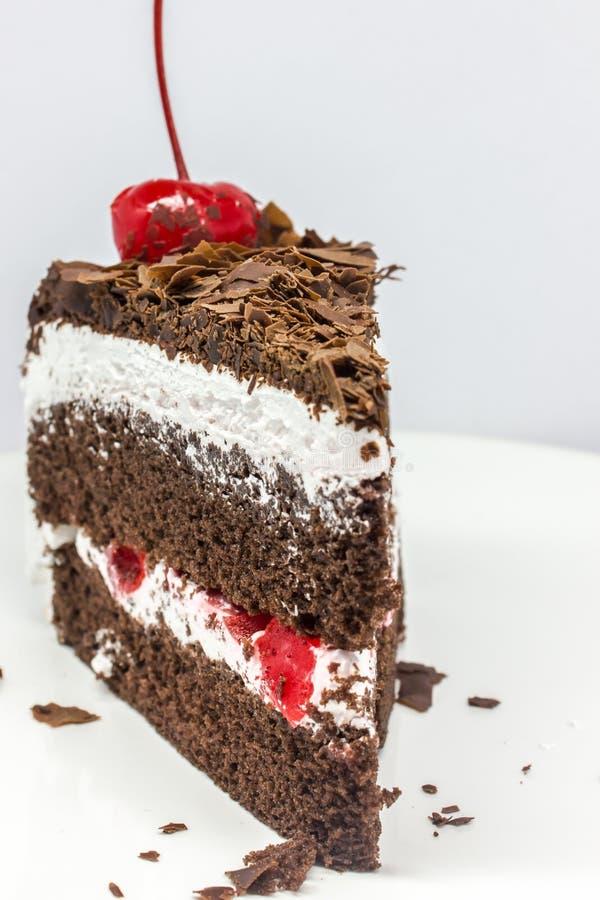 Geïsoleerdee chocoladecake royalty-vrije stock afbeelding