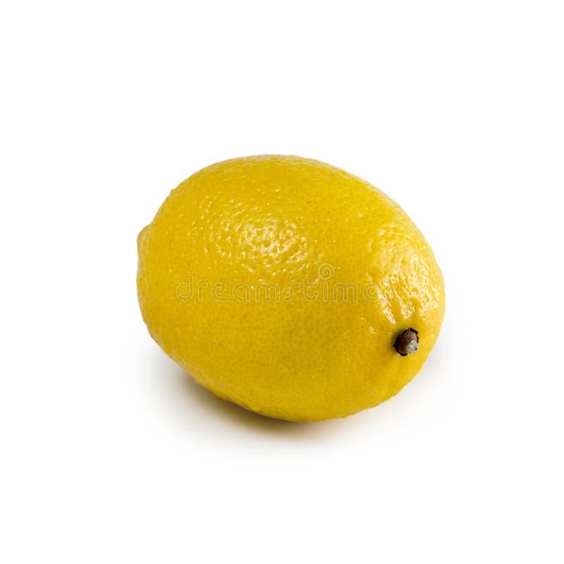 Geïsoleerdee citroen royalty-vrije stock fotografie