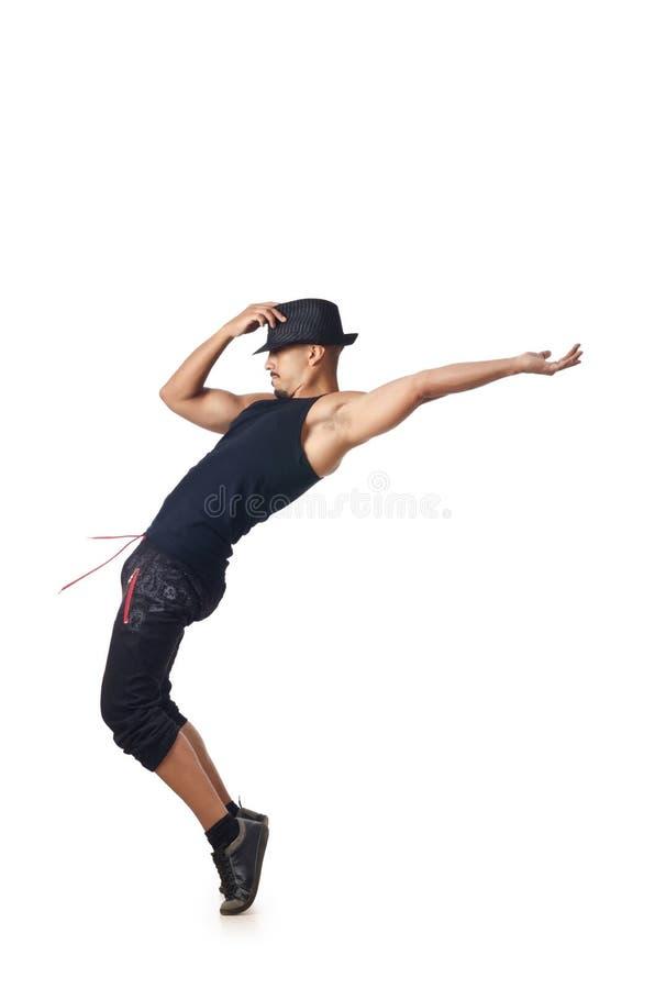 Geïsoleerdee danser royalty-vrije stock foto