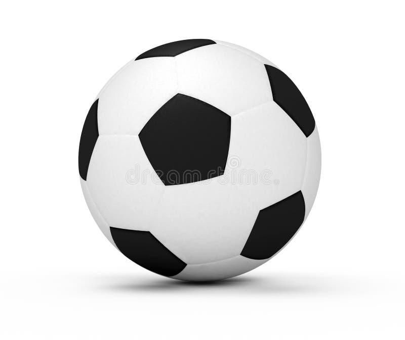 Geïsoleerdee de bal van het voetbal stock illustratie