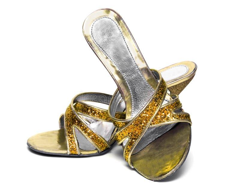Geïsoleerdee de schoenen van de vrouw royalty-vrije stock foto's