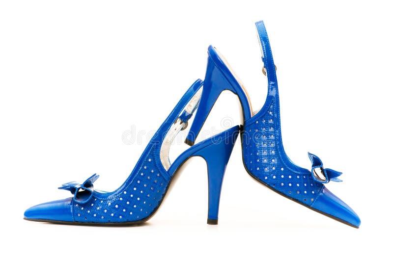 Geïsoleerdee de schoenen van de vrouw royalty-vrije stock foto