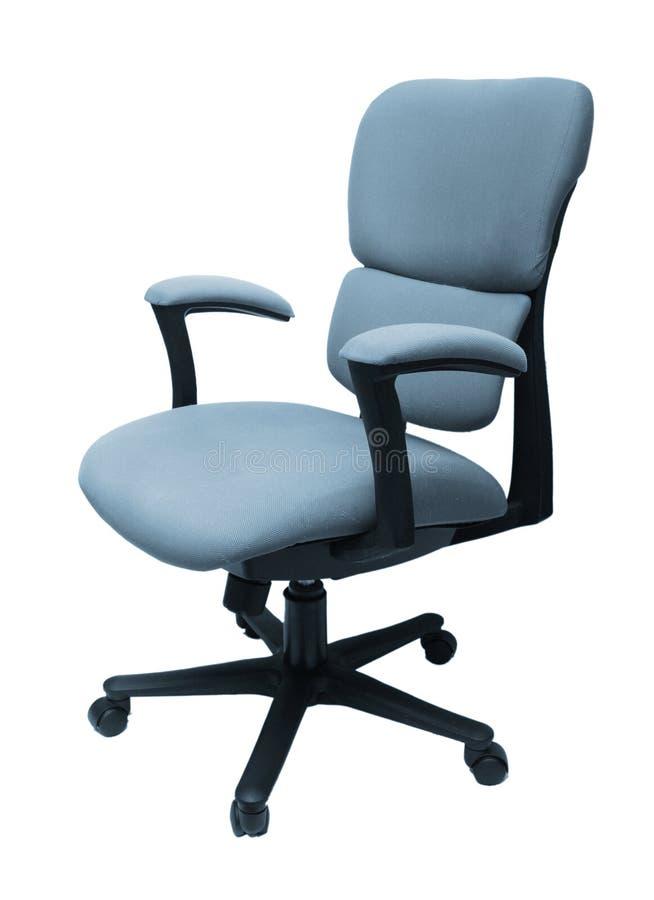 Geïsoleerdee de stoel van het bureau stock fotografie
