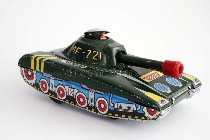 Geïsoleerdee de Tank van het stuk speelgoed stock foto's