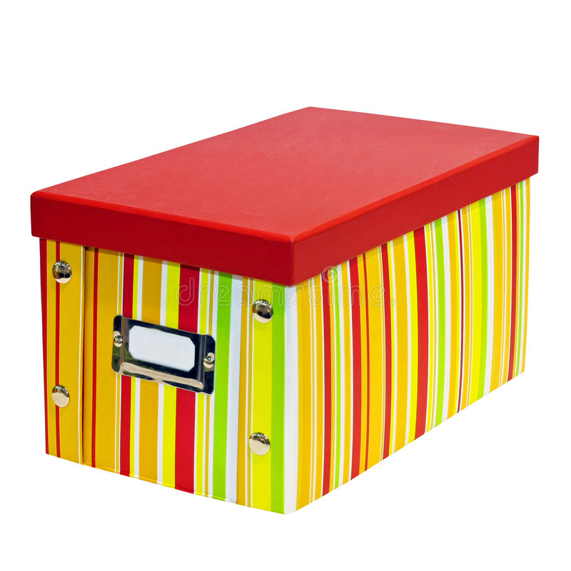Geïsoleerdee doos stock foto