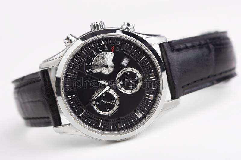 Geïsoleerdee het horloge van mensen royalty-vrije stock afbeelding