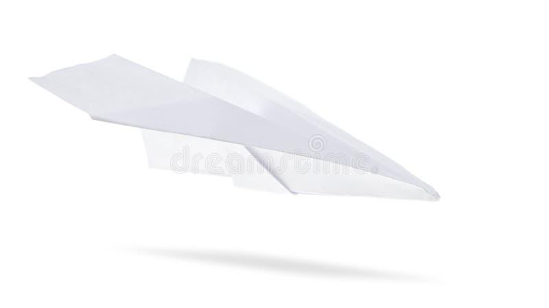 Geïsoleerdee het vliegtuig van het document royalty-vrije stock afbeelding