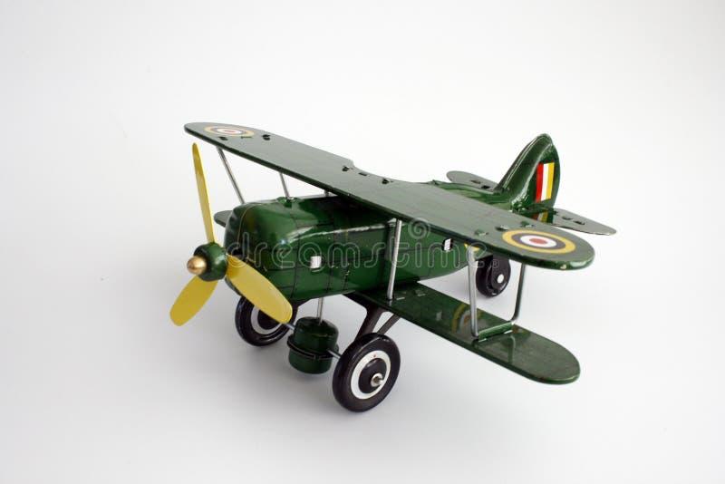 Geïsoleerdee het Vliegtuig van het stuk speelgoed royalty-vrije stock afbeeldingen