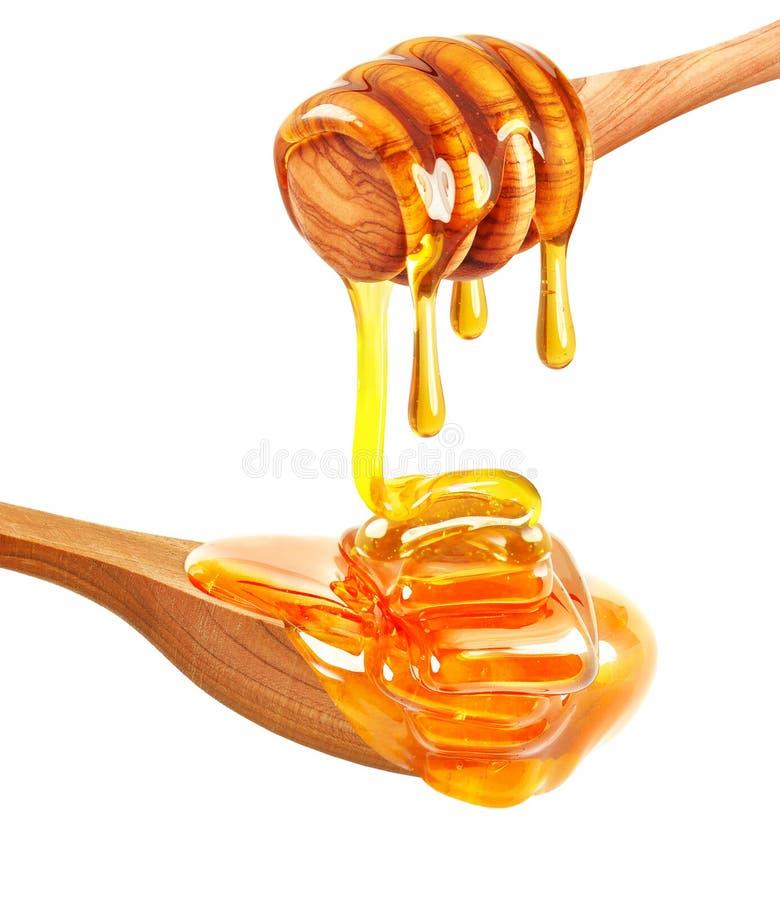 Geïsoleerdee honing royalty-vrije stock afbeelding