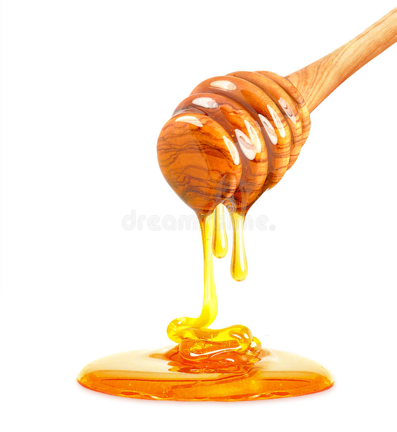 Geïsoleerdee honing stock fotografie