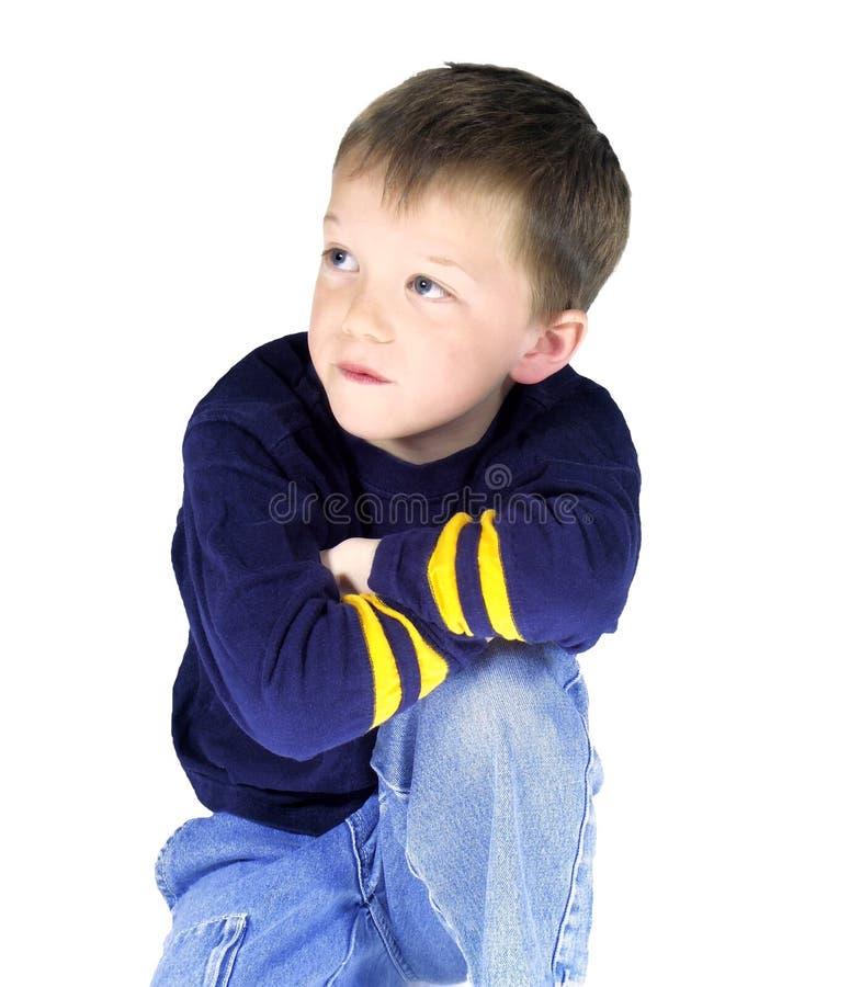 Geïsoleerdee jongen #2 stock foto