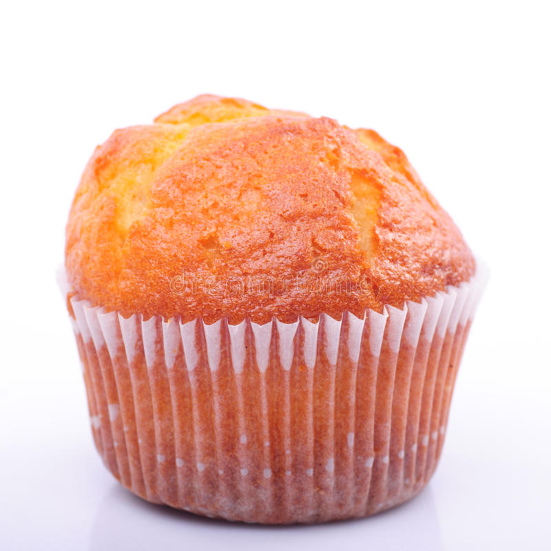 Geïsoleerdee muffin royalty-vrije stock foto's
