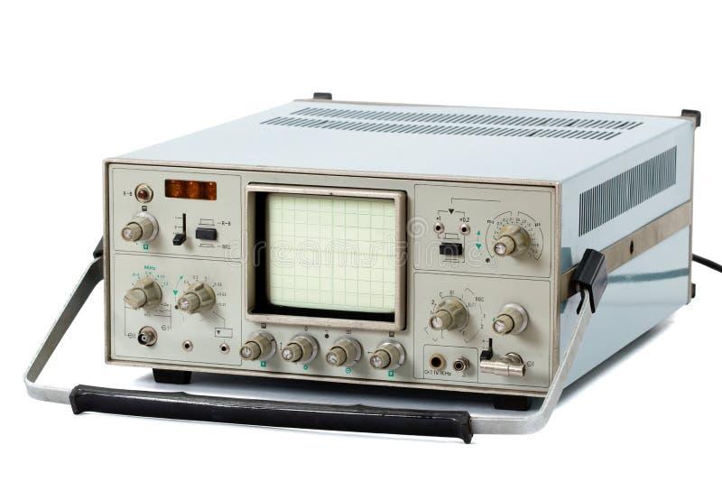 (Geïsoleerdee) oscilloscoop stock fotografie