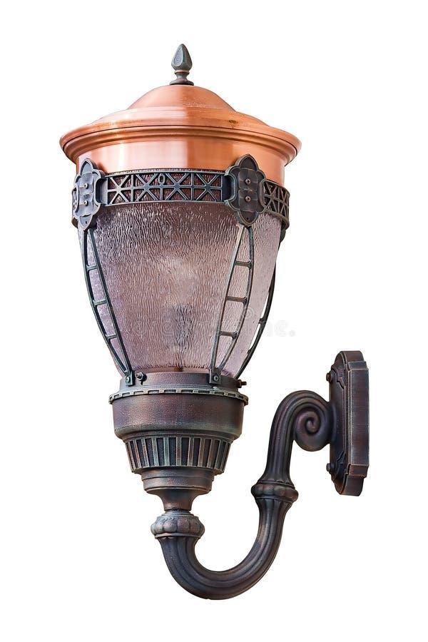 Download Geïsoleerdee Oude Straatlantaarn Stock Foto - Afbeelding bestaande uit aangestoken, lamp: 10778358