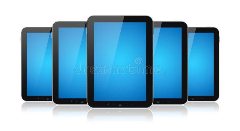Geïsoleerdee reeks Computers van de Tablet stock illustratie