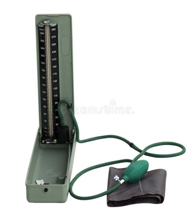 Geïsoleerdee Sphygmomanometer met het knippen van weg stock afbeeldingen