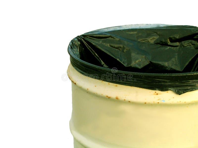 Geïsoleerdee vuilnisbak - royalty-vrije stock foto's