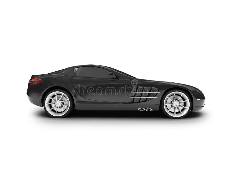 Geïsoleerdee zwarte super autokant royalty-vrije illustratie