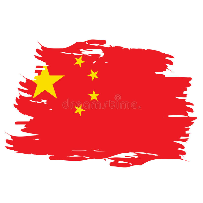 Geïsoleerdeg Chinese Vlag stock illustratie