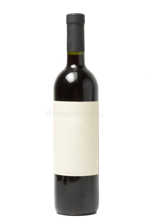 Geïsoleerdeg de fles van de wijn royalty-vrije stock foto