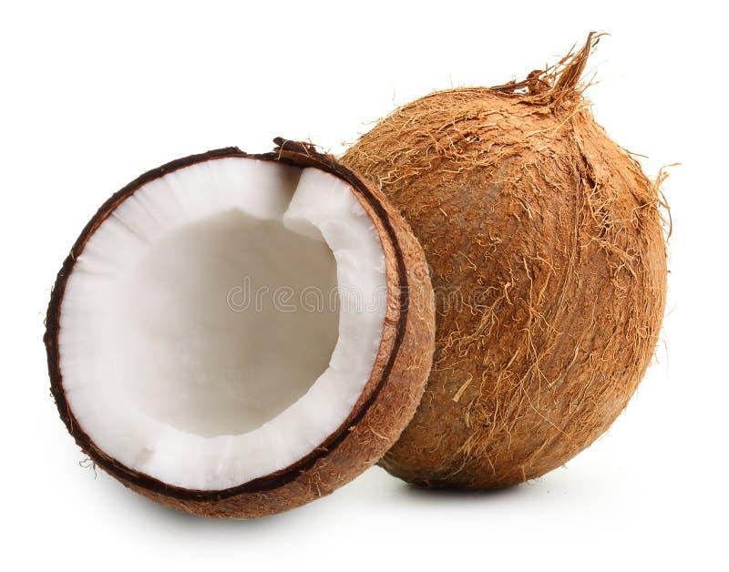 Geïsoleerdeg kokosnoot royalty-vrije stock foto