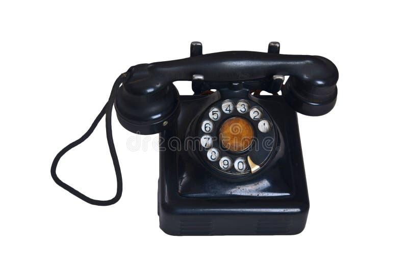 Geïsoleerdeg Oude Telefoon royalty-vrije stock afbeelding