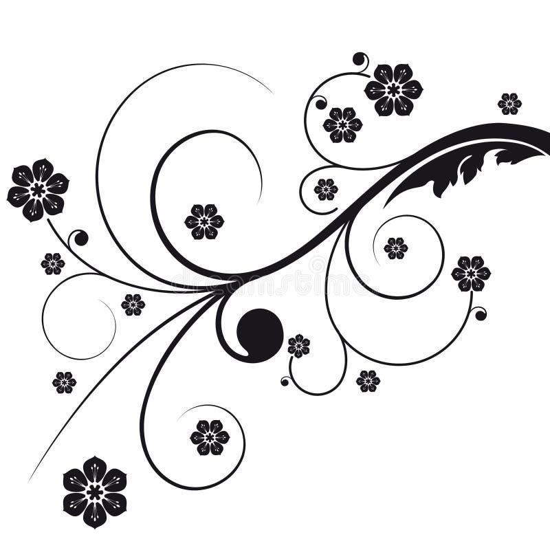 Geïsoleerdeh de samenvatting bloeit vector illustratie