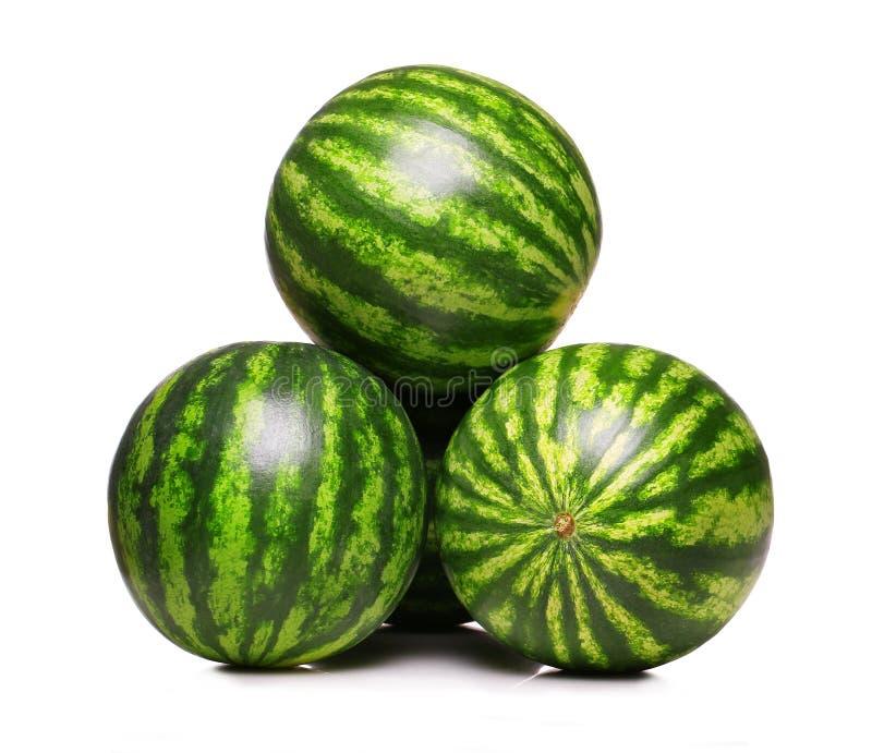 Geïsoleerdeh watermeloenen stock fotografie