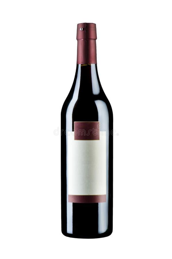 Geïsoleerdei de wijn van de fles royalty-vrije stock afbeeldingen