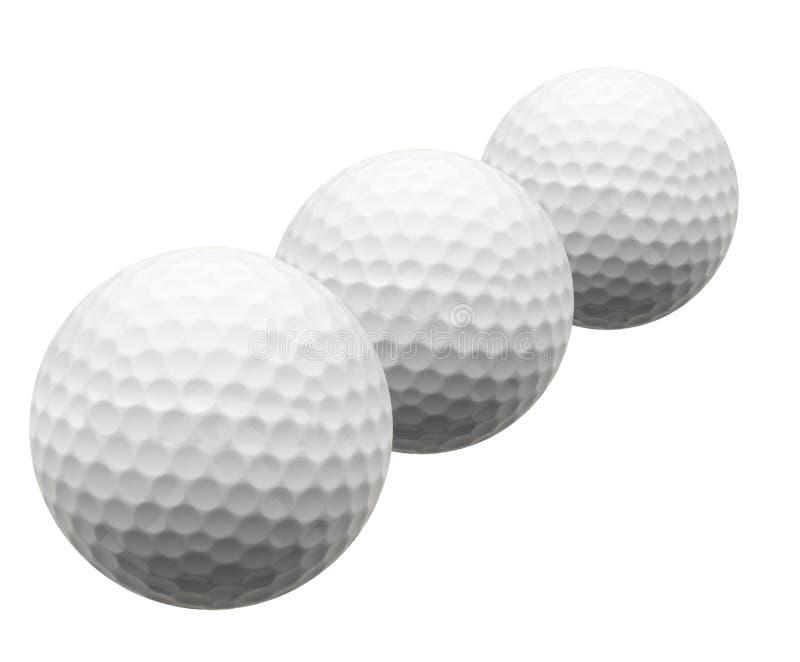 Geïsoleerdei Golfballen royalty-vrije stock fotografie