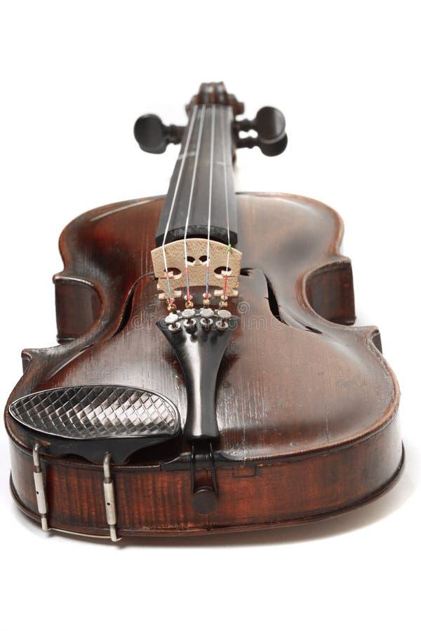 Geïsoleerde viool royalty-vrije stock afbeeldingen