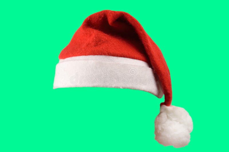 Geïsoleerdej de hoed van de kerstman royalty-vrije stock fotografie