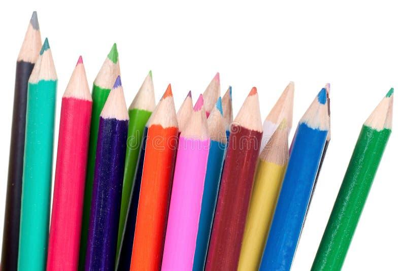 Geïsoleerdej kleurpotloden royalty-vrije stock afbeelding
