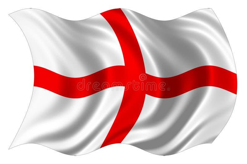 Geïsoleerdek de vlag van Engeland stock illustratie