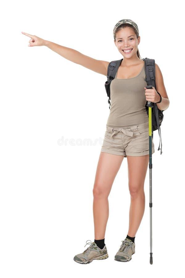 Geïsoleerdek wandelaar stock afbeelding