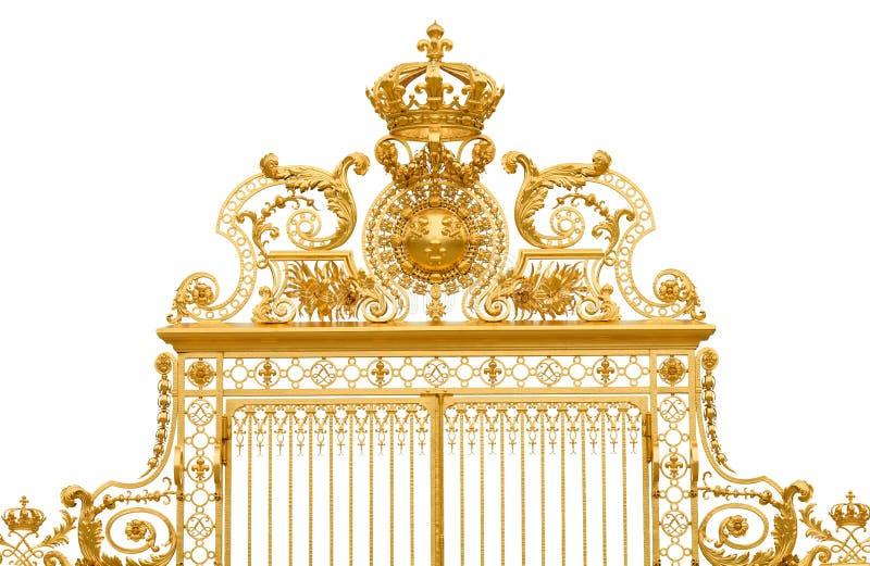 Geïsoleerdel gouden poort van het paleis van Versailles stock afbeelding