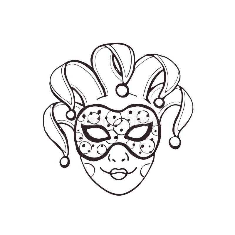 Geïsoleerdel het masker van Carnaval vector illustratie