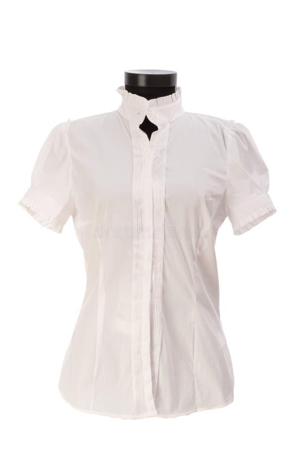 Geïsoleerdel het overhemd van de vrouw royalty-vrije stock foto's