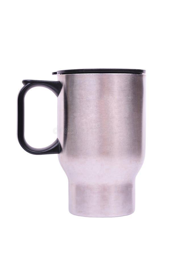 Geïsoleerdel koffiemok stock foto's