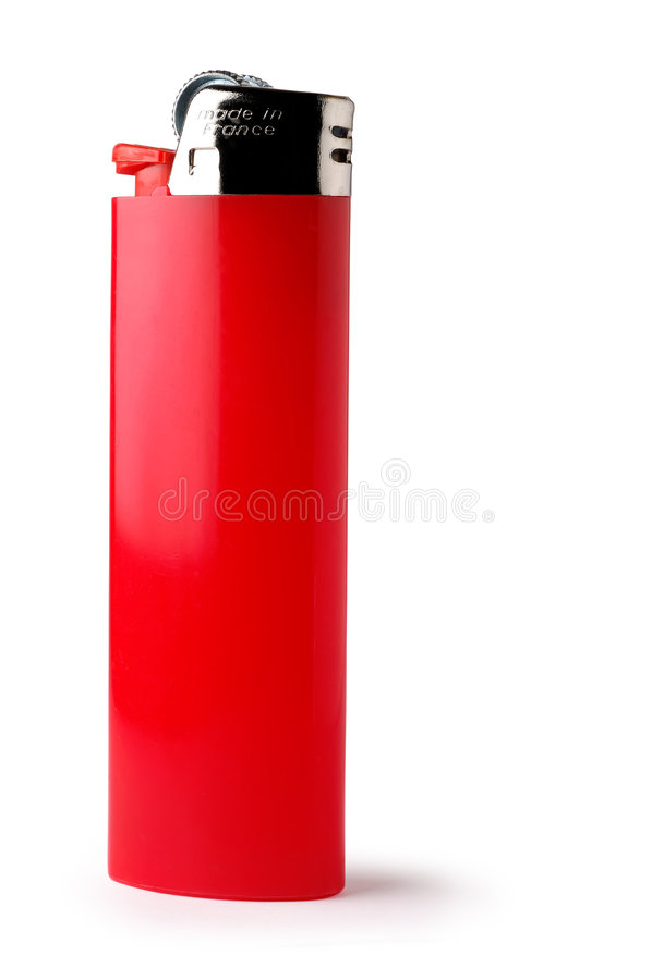 Geïsoleerdel rode aansteker royalty-vrije stock afbeelding