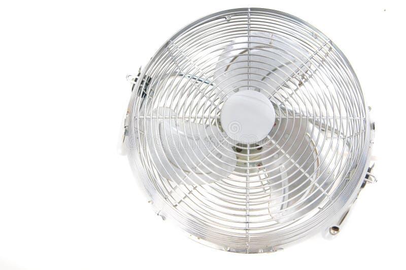 Geïsoleerdem de ventilator van het chroom royalty-vrije stock fotografie